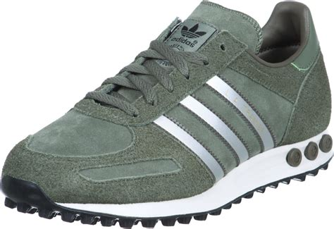 adidas sneaker trainers adidas la trainer shoes green silver