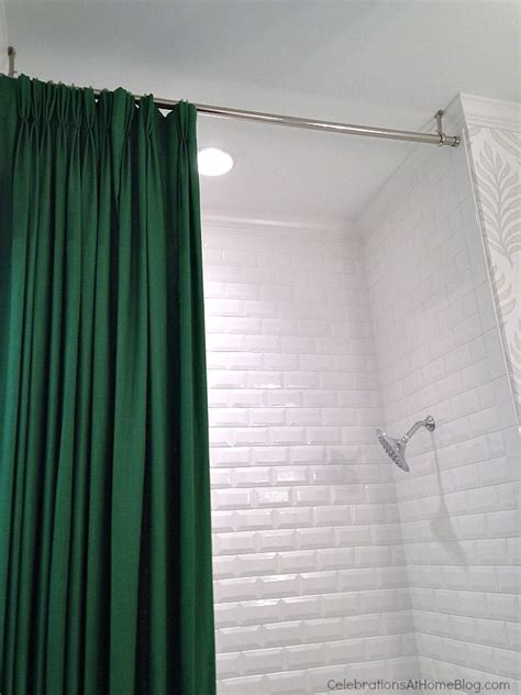 Ceiling Curtain Rods Ideas The 25 Best Shower Rod Ideas On Pinterest Bathroom Shower Organization Tension Shower Rod