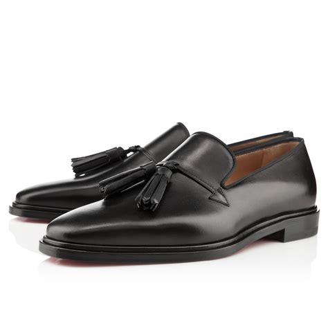 cool mens loafers christian louboutin mens watson flat black patent leather