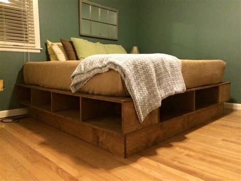 platform bed king size simple straight cuts