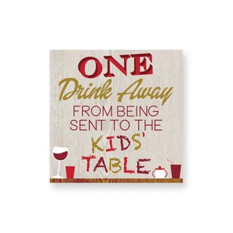 one drink table one drink away table beverage napkins