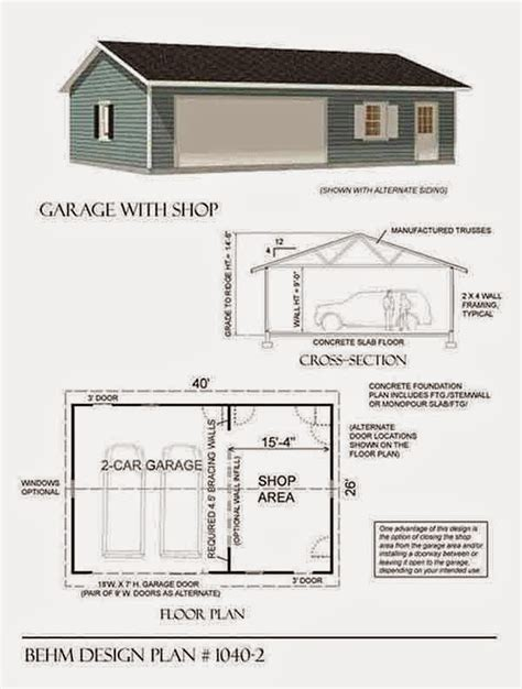 large garage plans garage plans behm design garage plan exles garage plan 1040 2 large 2 car with shop