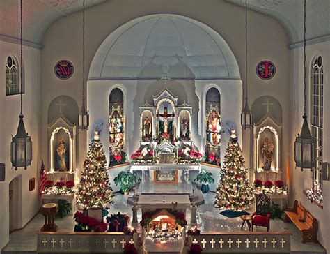 roman catholic church christmas decorations joseph catholic church in apple creek missou flickr