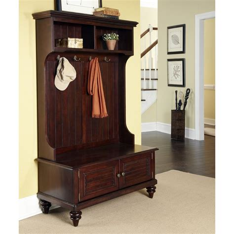 hall coat tree bench shop home styles bermuda transitional espresso hall tree
