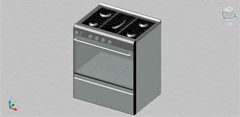 descargar de cocina bloques autocad gratis de cocina con horno en 3 dimensiones