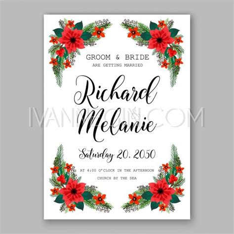 christmas tree wedding invitations