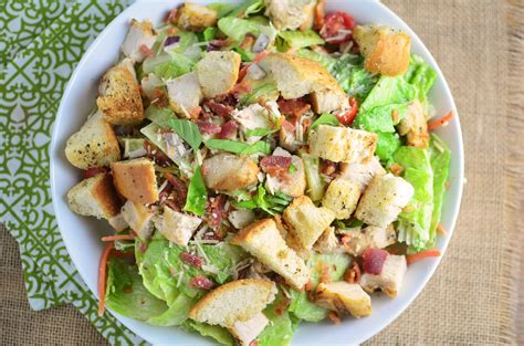 chicken salad chicken caesar salad with homemade croutons simple
