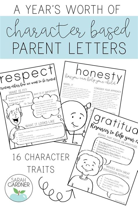 Character Education Letter To Parents 431 best character class images on character education salts and 2nd grades