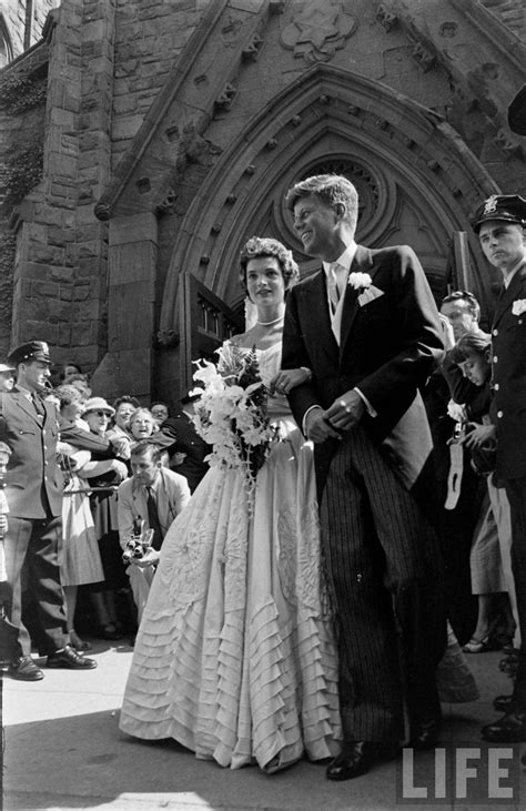 St Jackie wedding of kennedy jacqueline bouvier 1953 american history events jfk