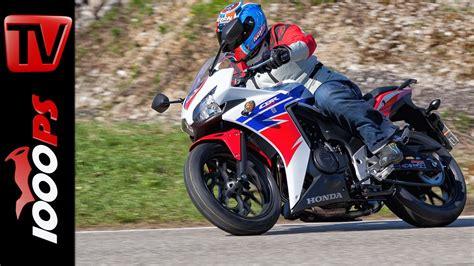 Motorrad Mieten A2 by Video 2015 Honda Cbr500r Test A2 48ps Einsteiger