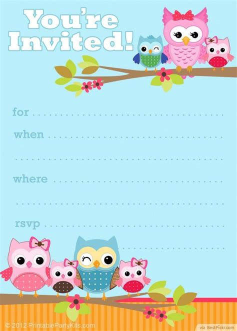 free printable owl invitation template