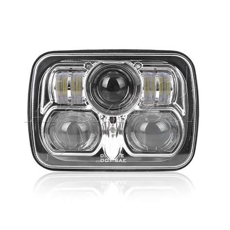 Jeep Xj Led Headlights 1pcs New Chrome 5 Quot X 7 Quot Led Headlight Replacement For Jeep