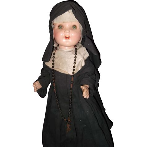 large composition doll large factory composition doll in habit from