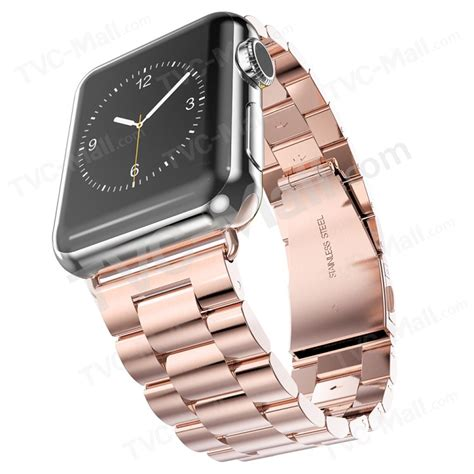 Stuff Apple 42mm Hoco 3 Pointer Style Stainless Steel Band hoco high end stainless steel watchband wristband for apple series 1 series 2 42mm 3