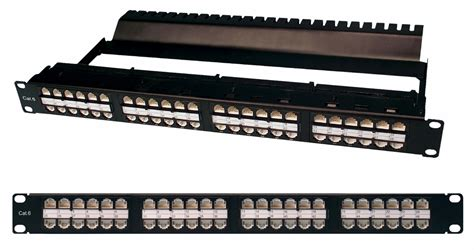 Patch Panel Rj45 Patch Panel Cat6 48 Port 1u Rj45 Rj45 Integrated Wire
