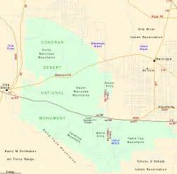 map of the sonoran desert national monument arizona