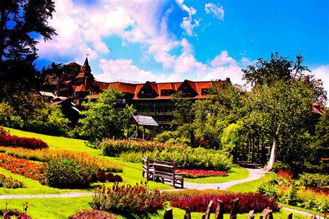 Garden Of On A Mountain Mohonk Mountain House Garden Photograph By Michael