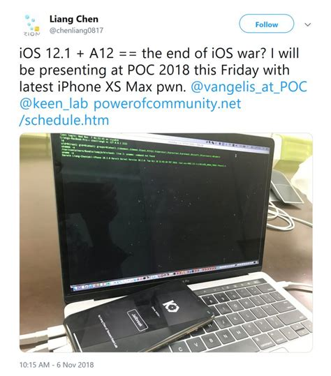 ios 12 1 jailbreak on iphone xs max done by keenlab cydia installer