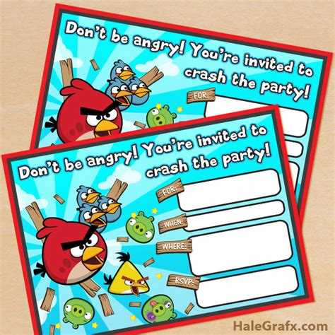 angry birds birthday invitation template free free printable angry birds birthday invitation