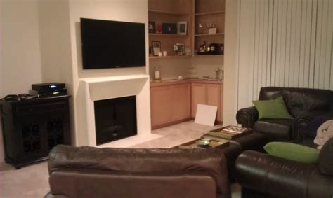 55 Inch Tv Above Fireplace by Samsung 55 Quot Flat Panel Led Tv Fireplace In Brentwood