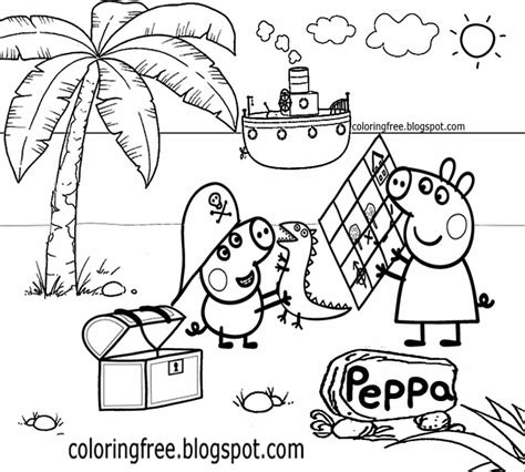 peppa pig at the beach coloring pages free peppa pig friends coloring pages free peppa pig at
