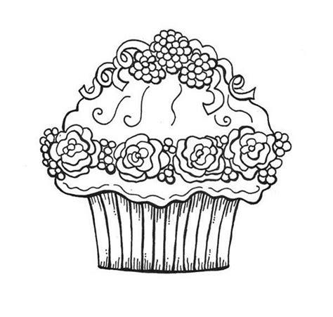 desenho cupcake framboesa colorir tudodesenhos