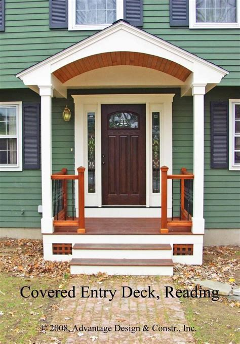 portico design front door pictures ideas entry deck in reading ma
