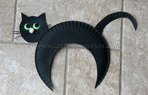 Black Craft Paper - paper plate black cat kid s craft