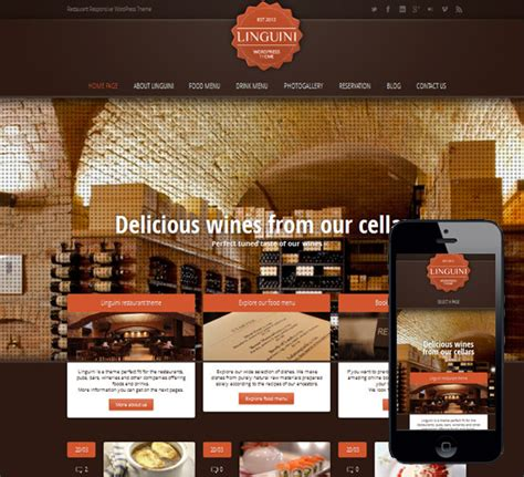 themeforest india 35 of the best restaurant wordpress themes creative