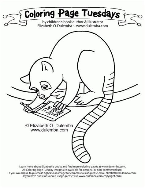 lemur coloring page coloring home