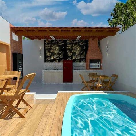 patios con barbacoa patio peque 241 o con barbacoa y piscina https