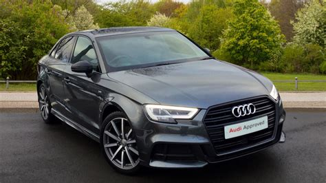 Audi A3 Saloon S Line Black by Used 2017 Audi A3 Saloon Black Edition 1 4 Tfsi Cylinder