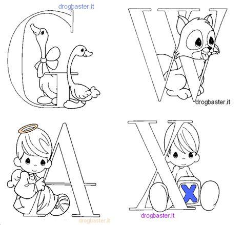 disegni per lettere lettere alfabeto e numeri da stare e colorare