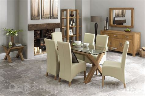 Oak And Glass Dining Table Sets 301 Moved Permanently