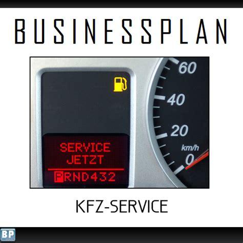 Kfz Service by Busyplans De Businessplan Kfz Werkstatt Service