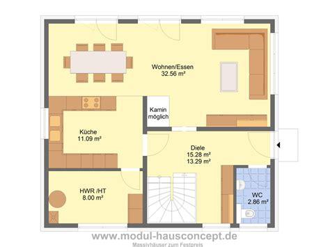 Grundriss Einfamilienhaus 140 Qm by Modul Hausconcept Einfamilienh 228 User