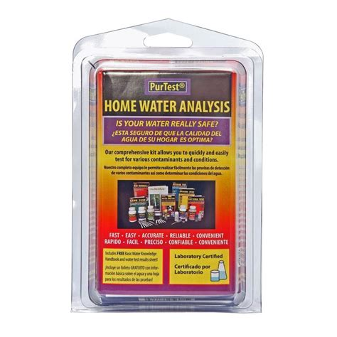 purtest home water analysis kit 777 the home depot