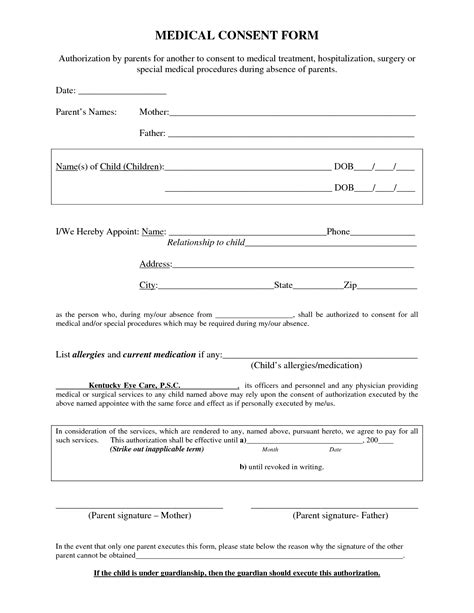 procedure consent form template procedure consent form template pictures to pin on
