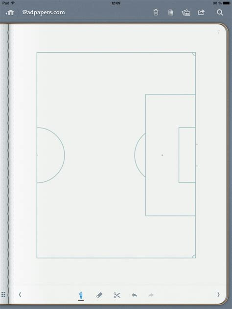 ipadpaperscom soccer pitch paper templates