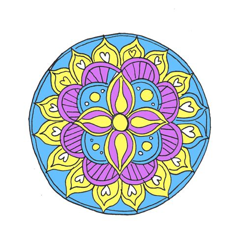 colored mandala how to draw a mandala with free coloring pages
