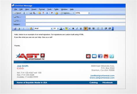 design html signature outlook 2010 outlook email signature design www pixshark com images