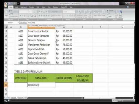 tutorial vlookup dan hlookup pdf tutorial 10 fungsi vlookup dan hlookup youtube