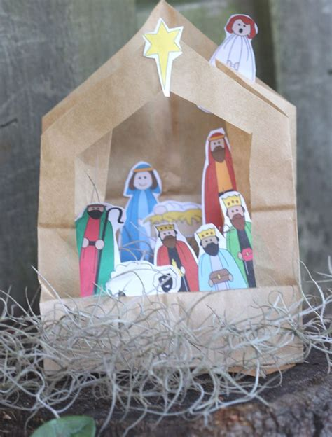 simple paper bag pattern 1000 images about simple nativity crafts for kids on
