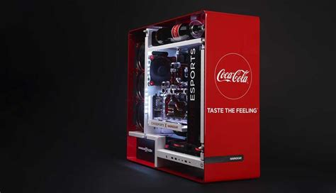 coca cola themed gaming pc  maingear