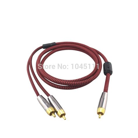 Kabel Hifi Rca To 2 Rca Audio 24k Gold Plated 3mtr Limited new av rca to 2 rca audio cable for power lifier
