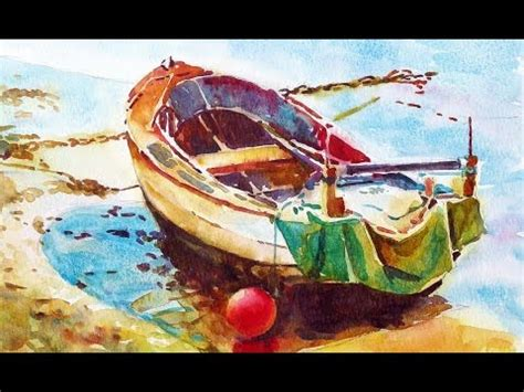 boat drawing video painting a watercolour little boat youtube