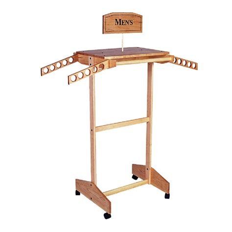 Wooden Clothing Rack by Standard Wooden Clothing Rack Trio Display