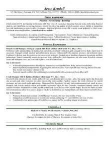 Debt Collection Manager Sle Resume by Credit Collections Manager Resume Sle Credit Manager Resume Best Resume Sle Debt