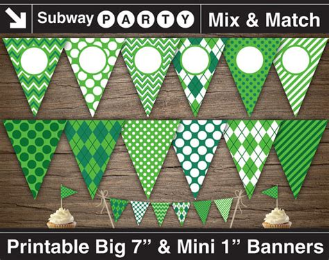 printable golf banner golf party printable banner and mini cake bunting emerald