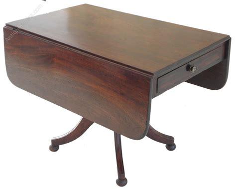 pedestal sofa table regency mahogany pedestal pembroke sofa table antiques atlas